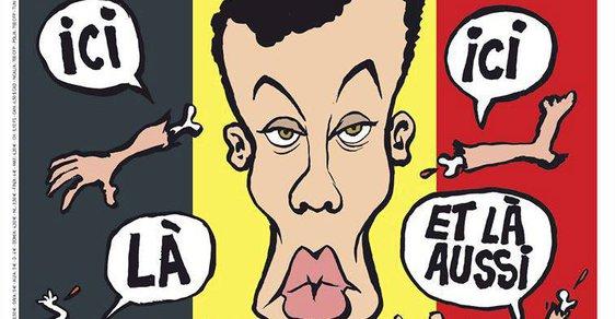 Létající údy. Charlie Hebdo vyjadřuje soustrast jak jinak než provokací