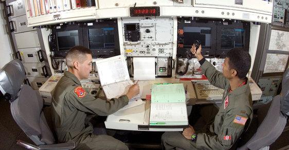 Operátoři raket Minuteman.