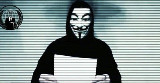 Anonymous na aktuálním videu