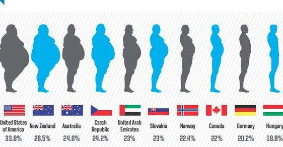 Podle studií Světové zdravotnické organizace, ale i Organizace pro hospodářskou spolupráci a rozvoj, patří Češi mezi vůbec nejtlustší národy světa.