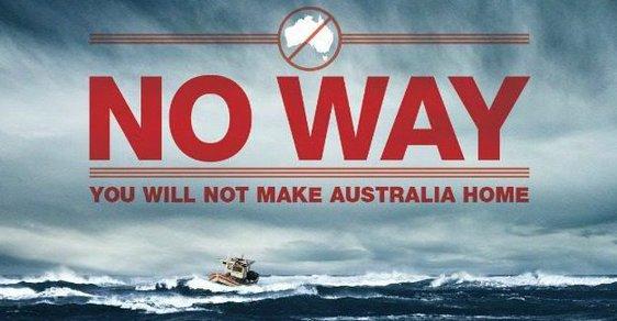 Australská vláda dává veřejně vědět, že nebude tolerovat žádnou imigraci.