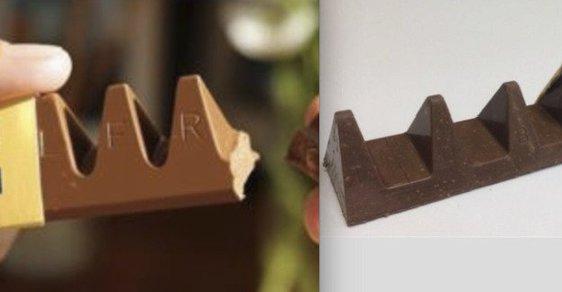 Vlevo původní Toblerone, vlevo nové. Rozdíl naštval zákazníky