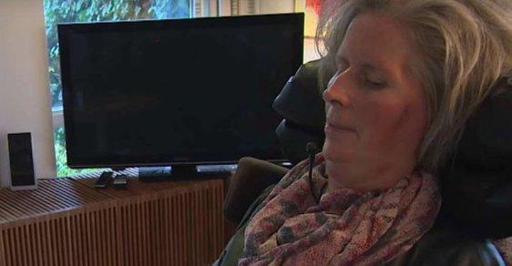 Pacientka s ALS, na které byla nová technologie vyzkoušena.