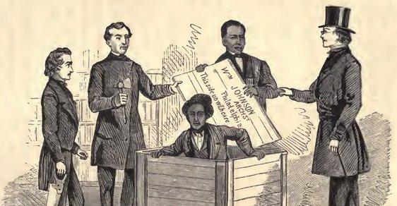 Vzkříšení Henryho Box Browna na ilustraci William Stilla z roku 1872