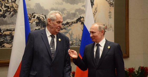 Miloš Zeman a Vladimir Putin během schůzky v Pekingu (14. 5. 2017)