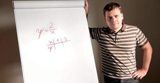 Ne, to není příklad z písemky pro šesté třídy základních škol. To je zadání úlohy státní maturity z matematiky. Její podstatou je za x dosadit jedničku a dvojku a vypočítat y. Tedy dvě děleno jednou a dvě děleno dvěma. Kolik to asi je? Vědí to maturanti?