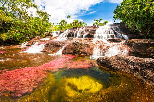 Kolumbijská řeka Cristales