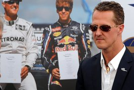 Michael Schumacher na bleskové návštěvě v Praze