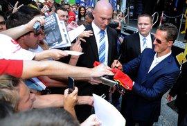 O podpis Michaela Schumachera byl velký zájem