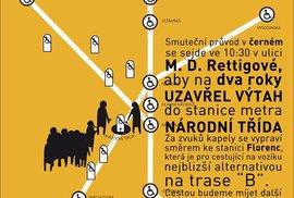 Kolem metra na Národní třídě zítra projde smuteční průvod. Proč?