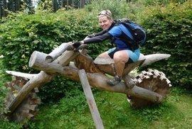 Tak tuto krásnou dřevěnou mašinku jsem si vyzkoušet na rakouské straně Novohradských hor.