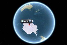 Berlín na Antarktidě a Mánes ve Vltavě. Takhle vypadá svět podle Applu