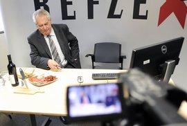 Prezident Miloš Zeman na návštěvě v Reflexu: Poslechněte si, co si myslí o ostatních politicích
