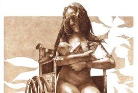 Polomrtvá žena kojící dítě je jedním z nejznámějších Castigliových děl. Má zobrazovat koloběh života a smrti.