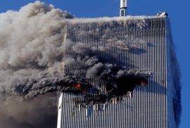 Moment, kdy do věže narazilo letadlo.