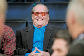 Nicholson na basketbale v hale Los Angeles Lakers