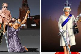 Hořké satirické kresby ukazují, jak vidí spravedlnost jednotlivé země