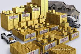 Zlaté rezervy různých států v roce 2012. Tento obrázek je dnes již lehce nepřesný - Rusko a Čína v za poslední 3 roky výrazně zvýšili svoje zlaté rezervy.