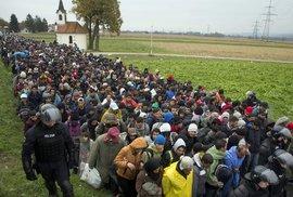 Uprchlíci na chorvatsko-slovinské hranici