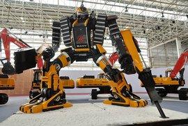 Robot Sany ze stavby.