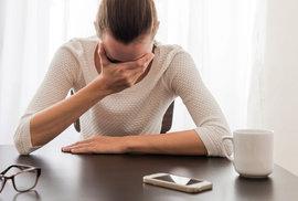 Při migréně není možné pracovat.