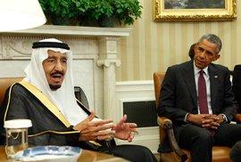 Obama se saúdským králem Salmánem