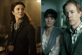Michelle Fairley: Vlevo Hra o trůny, vpravo Harry Potter a Relikvie smrti
