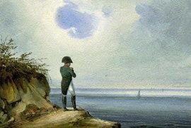 Napoleon v exilu na Svaté Heleně.
