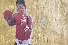 Zlatý robot alias boxerka Steluta Duta.