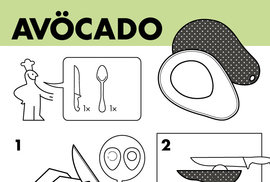 Vtipné návody vám poradí, jak správně jíst