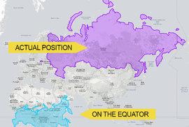Rusko by na rovníku nebylo zdaleka tak velké