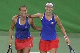 Vítězná euforie! České tenistky Barbora Strýcová a Lucie Šafářová na OH v Riu vyřadily obhájkyně zlata Venus a Serenu Williamsovy