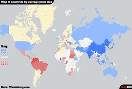 Vznikl celosvětový průzkum, který změřil délku penisů. V Evropě vedou Češi a Maďaři