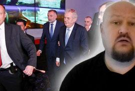 Fanoušek prezidenta: V jakém stavu je Zemanova ochranka? Naštěstí ve střízlivém