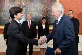 Velvyslanec USA v Česku Andrew Schapiro předal prezidentovi Miloši Zemanovi pověřovací listiny