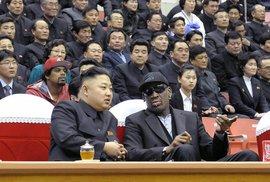 Dennis Rodman s vůdcem Kim Čong-unem
