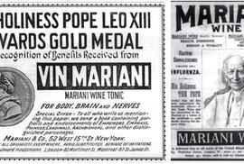 Papež Lev XIII. koktejl miloval natolik, že společnost Vin Mariani ocenil zlatou medailí a objevil se dokonce i na jejich reklamních letácích.