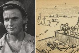 Od výcviku až po Den D: Mladý voják zachytil na skicách hrůzy 2. světové války
