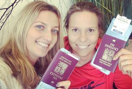 Petra Kvitová a Lucie Hradecká spolu vyrazily na dovolenou do Dubaje