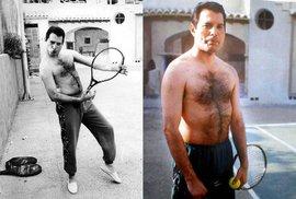 Neznámé fotky ze života Freddieho Mercuryho: Tenista