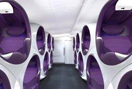 Luxus v oblacích. Prohlédněte si přepych futuristických kabin letadel