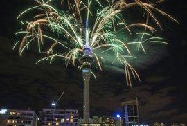 Novoroční ohňostroj v Aucklandu