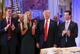 Donald Trump na první oficiální tiskové konferenci od zvolení