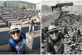 Konec selfíček u Památníku holocaustu? Unikátní projekt upozorňuje na nevhodné fotky …