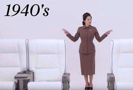 Proměny letušek v průběhu 20. století.