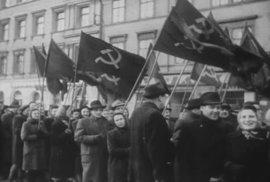 Agitace komunistů v roce 1947.