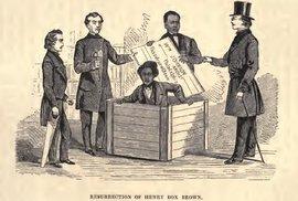 Rafinovaná cesta za svobodou. Černošský otrok se ukryl v krabici a nechal se odeslat poštou