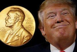 Může Trump získat Nobelovu cenu míru? Nominován je, ale to by jako Obama nesměl nic dělat