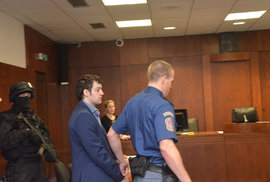 Eskorta přivedla Kevina Dahlgrena k pokračování odvolacího soudu.
