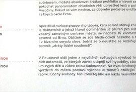 Oficiálně fuj! Lidé žijící v Kuřimi ztratili lidskou soudnost a žijí ve svém městě jako v pracovním táboře. Alespoň podle nového oficiálního průvodce Brnem vydaného za peníze daňových poplatníků Turistickým informačním centrem města Brna.